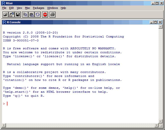 RGui:Windows下R的图形界面
