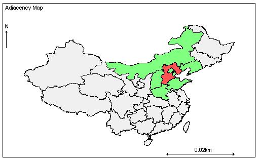 生成的地图可以在这里下载中国行政区域地图geobugs版.我