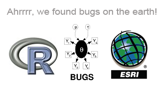 R, WinBUGS and ArcInfo